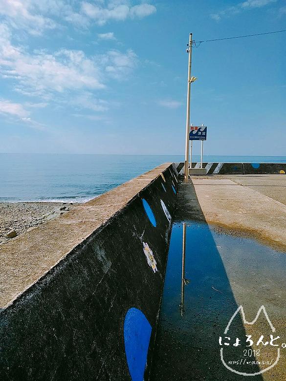 大浜海岸に至る道