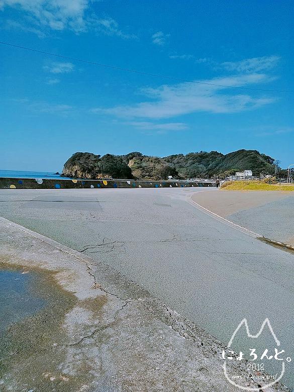 大浜海岸に至る道・終点