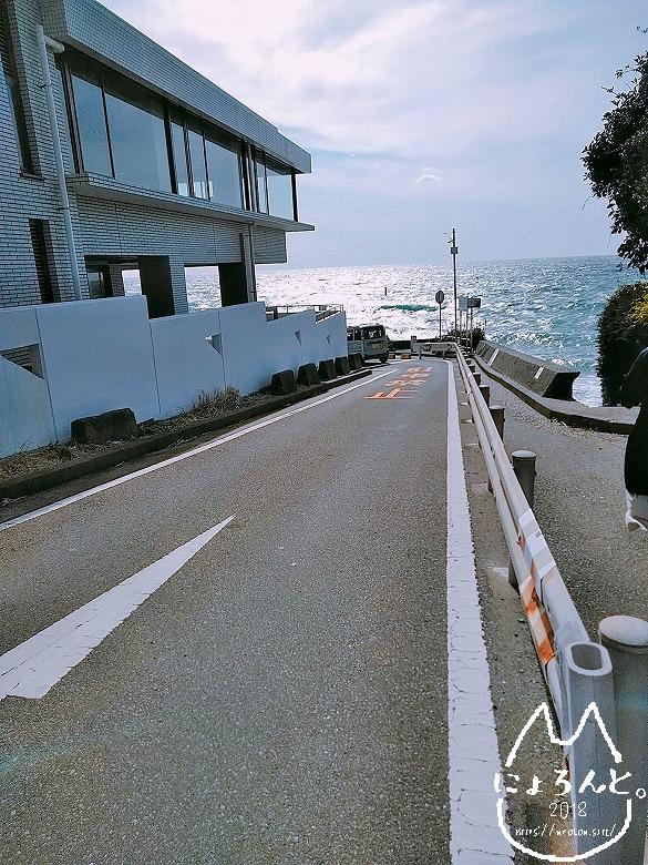 立石海岸への道