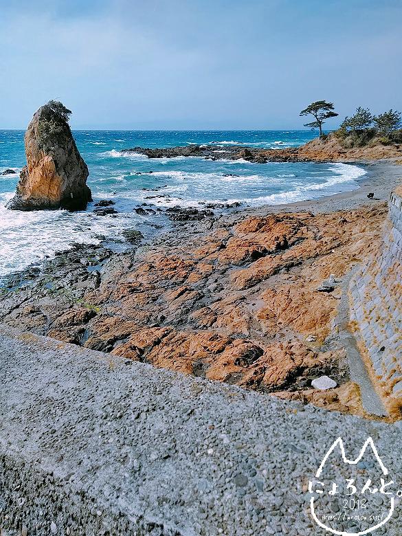 立石海岸の眺め