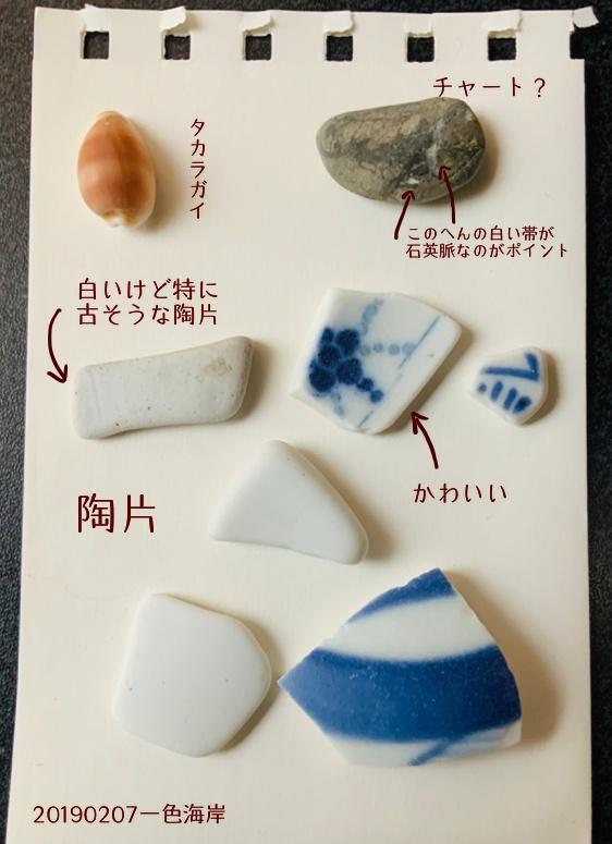 「一式海岸」で拾った石で思い出の石図鑑作り!