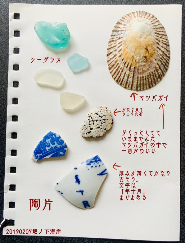 「坂ノ下海岸」で拾った石で思い出の『私が拾った石図鑑』訂正版
