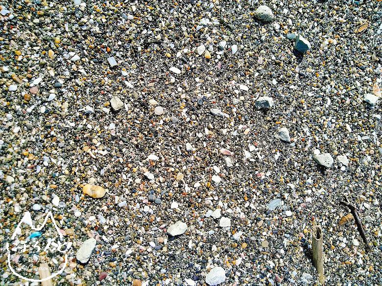 「元名海岸」浜辺アップ