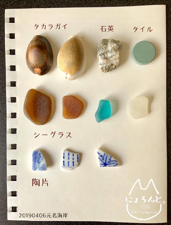 「元名海岸」で拾った石で思い出の『私が拾った石図鑑』作り!