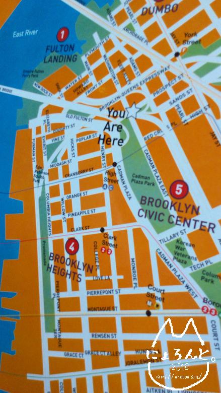 ブルックリンブリッジマップ