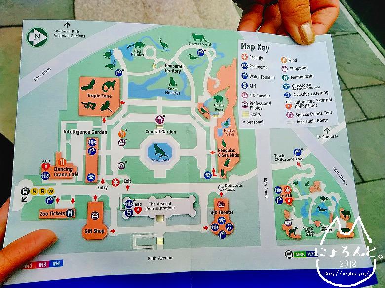ニューヨーク・セントラルパーク動物園地図