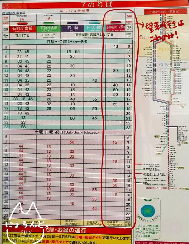 北海道・望来海岸でビーチコーミング/望来行き時刻表