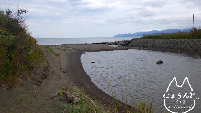 北海道・望来海岸でビーチコーミング/河口