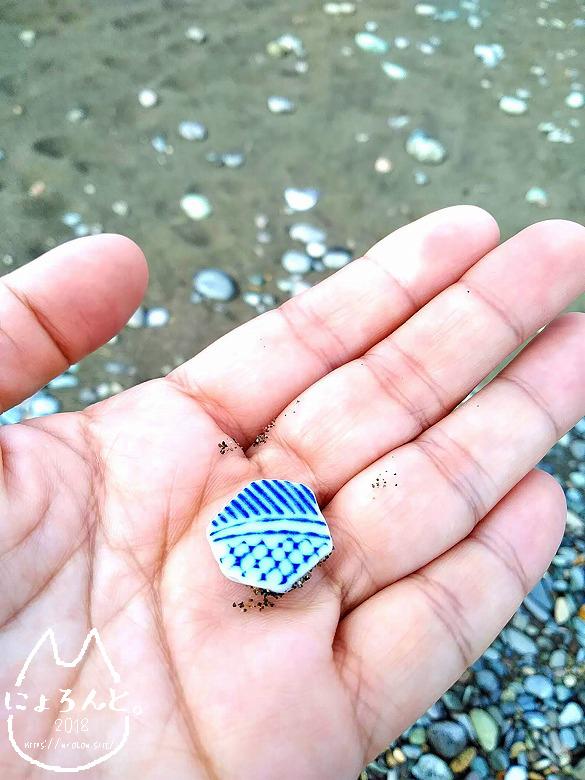 大浜海岸でビーチコーミング/陶片