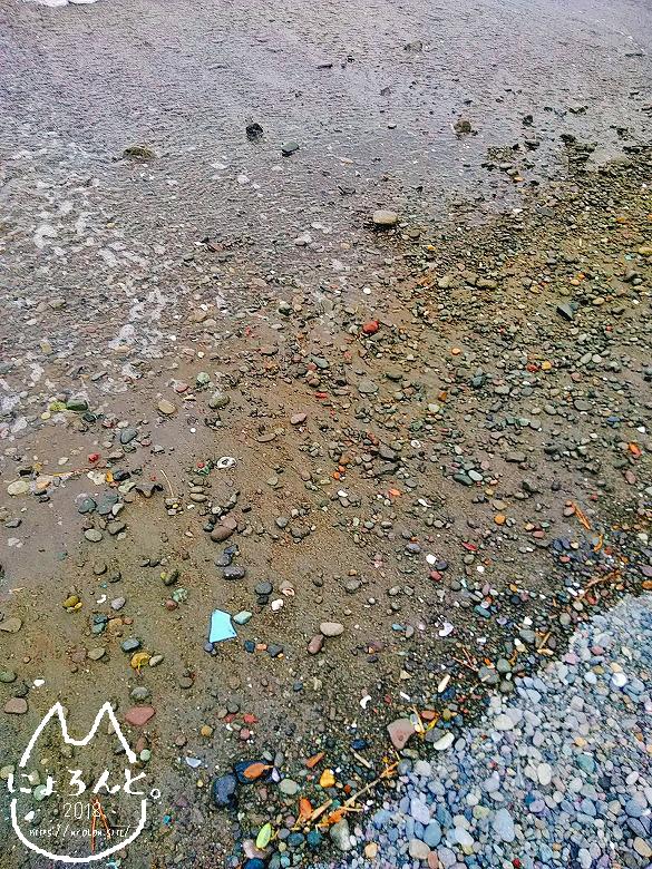 大田子海岸でビーチコーミング/浜