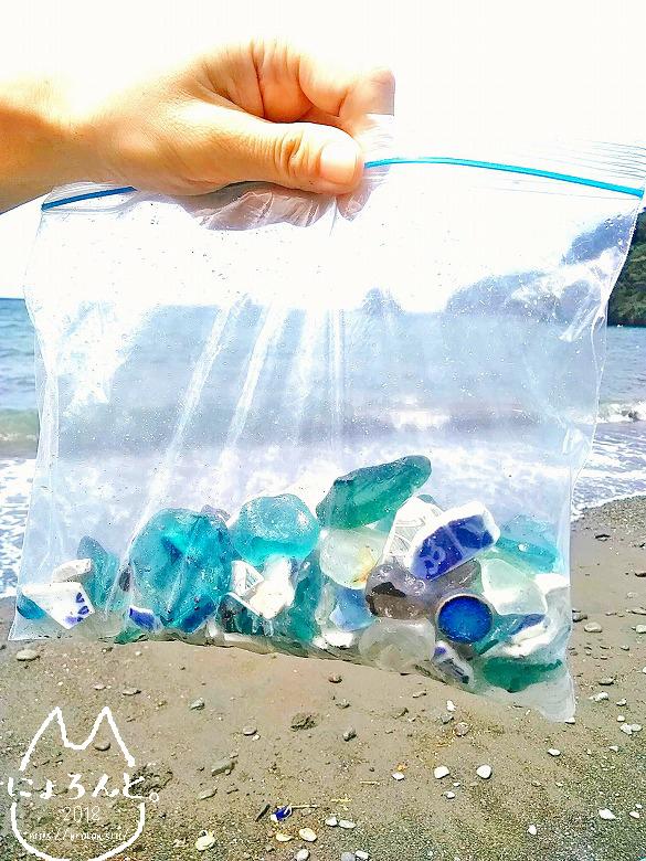 大田子海岸でビーチコーミング/収集品