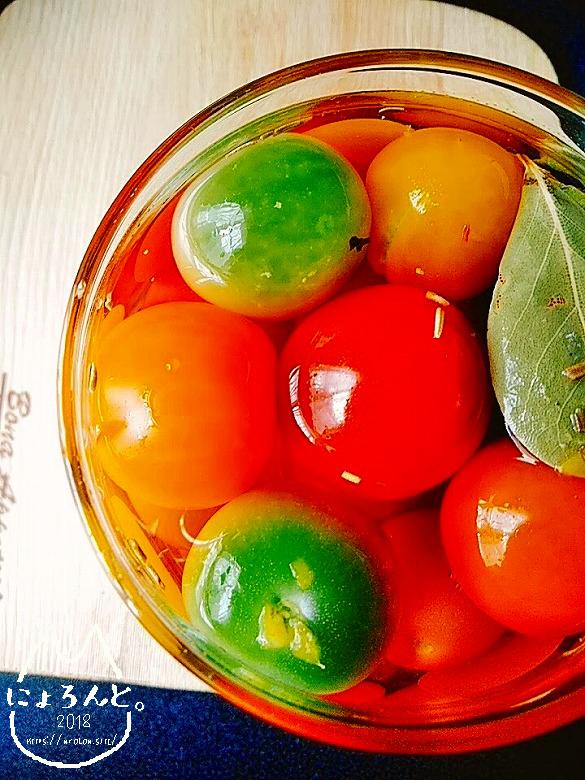 お酒のおつまみにもお弁当の彩にも!ミニトマトのピクルスレシピ