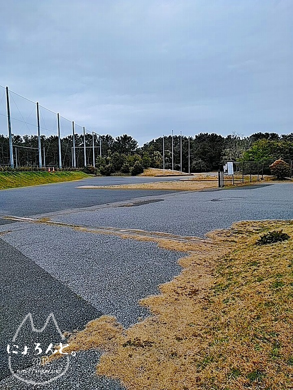 冬の幕張海岸2020・公園入口