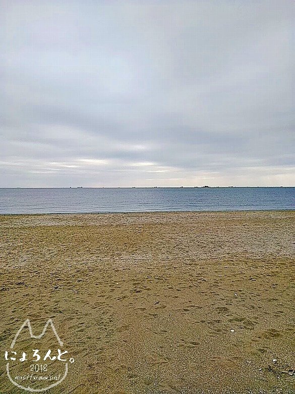 冬の幕張海岸2020・浜の正面