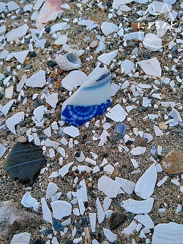 冬の幕張海岸2020・陶片
