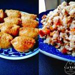 しっかり甘口の五目混ぜご飯と稲荷むすびレシピ