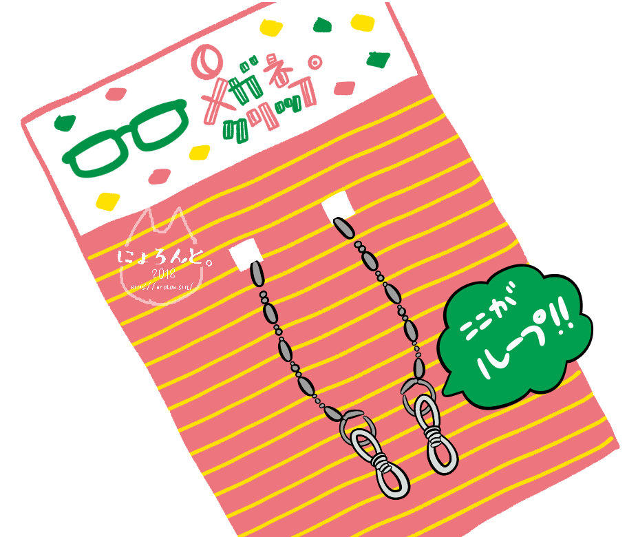 眼鏡クリップ(画:にょろん)