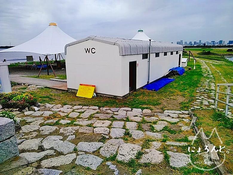 葛西臨海公園でビーチコーミング/トイレ