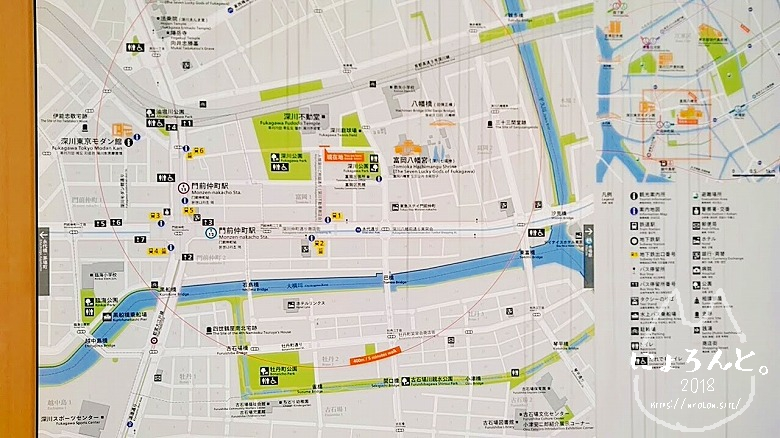 富岡八幡宮骨董市/地図