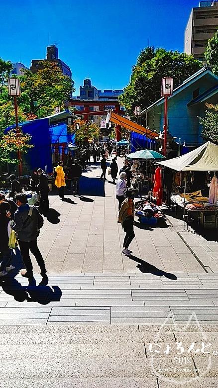 富岡八幡宮骨董市/境内からの眺め