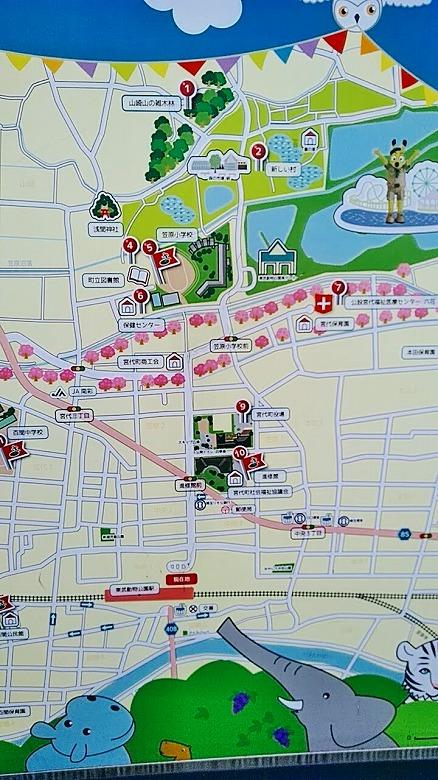 東武動物公園/駅前地図
