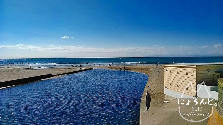 材木座ビーチコ―ミング/浜辺の様子