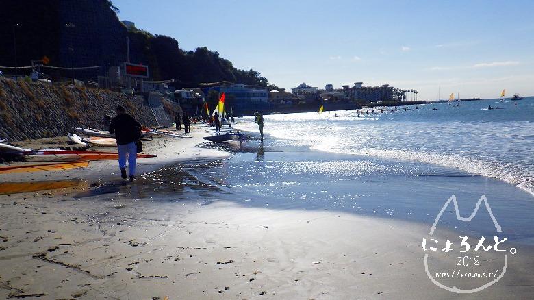 材木座海岸ビーチコーミング/浜の端