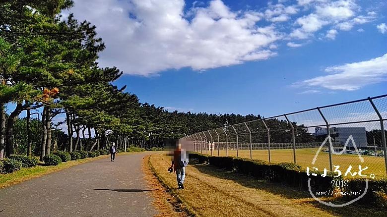 稲毛海岸でビーチコーミング/道順