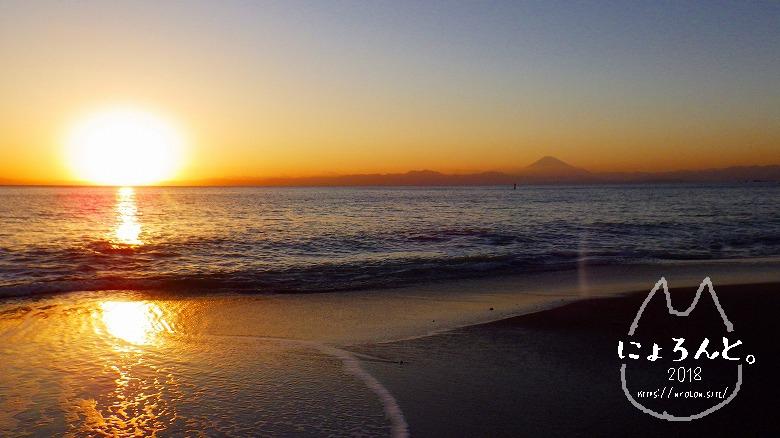 立石海岸でビーチコーミング/夕日