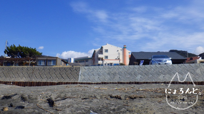 新舞子海岸でビーチコーミング/トイレ