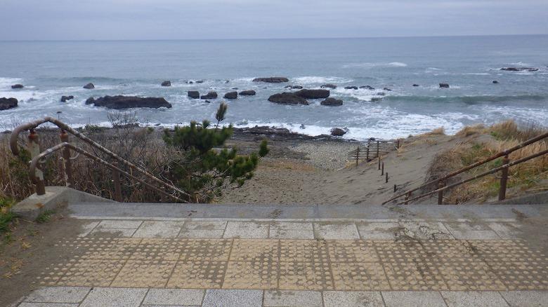 アクアワールド大洗駐車場前でビーチコーミング/立ち入りOK