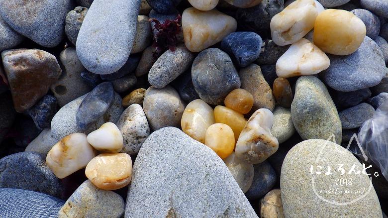 磯崎海岸でビーチコーミング/選別タイム