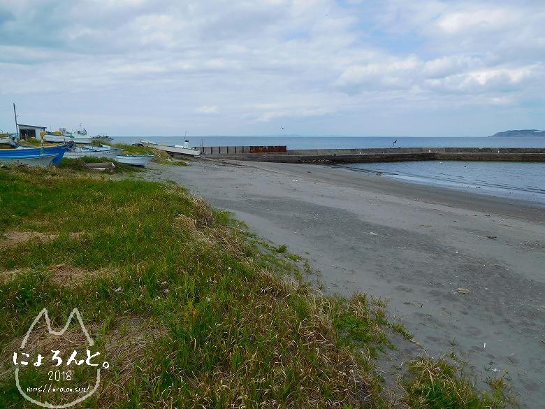 館山・塩見海岸でビーチコーミング/浜の様子