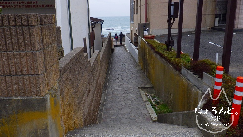 大洗海岸・磯前神社前でビーチコーミング/道順