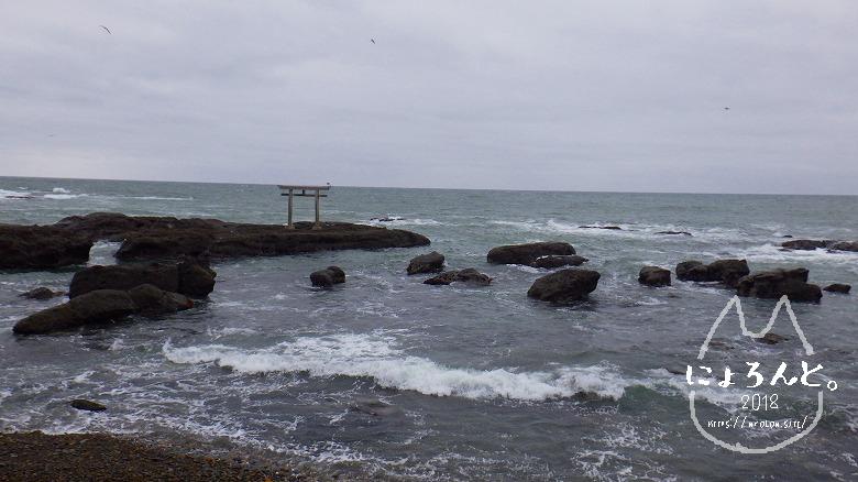 大洗海岸・磯浜灯柱前でビーチコーミング/道順