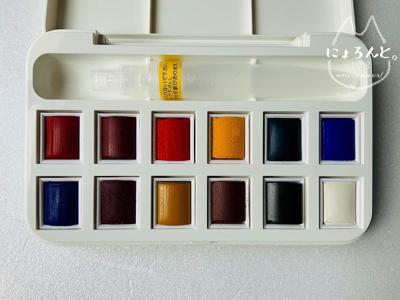 ウインザー&ニュートン12色・開封の儀/パレット完成