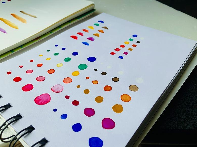 ウインザー&ニュートン12色・開封の儀/色テスト
