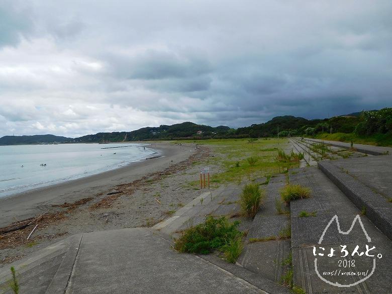 上総湊海浜公園でビーチコーミング/浜の様子
