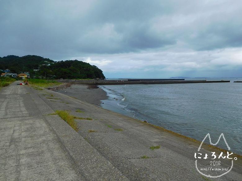 上総湊海浜公園でビーチコーミング/防波堤