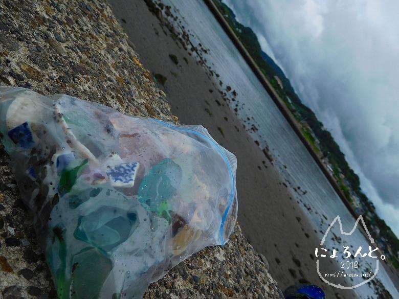 貝殻にシーグラスに陶片!上総湊・湊川河口でリバーコーミング/休憩