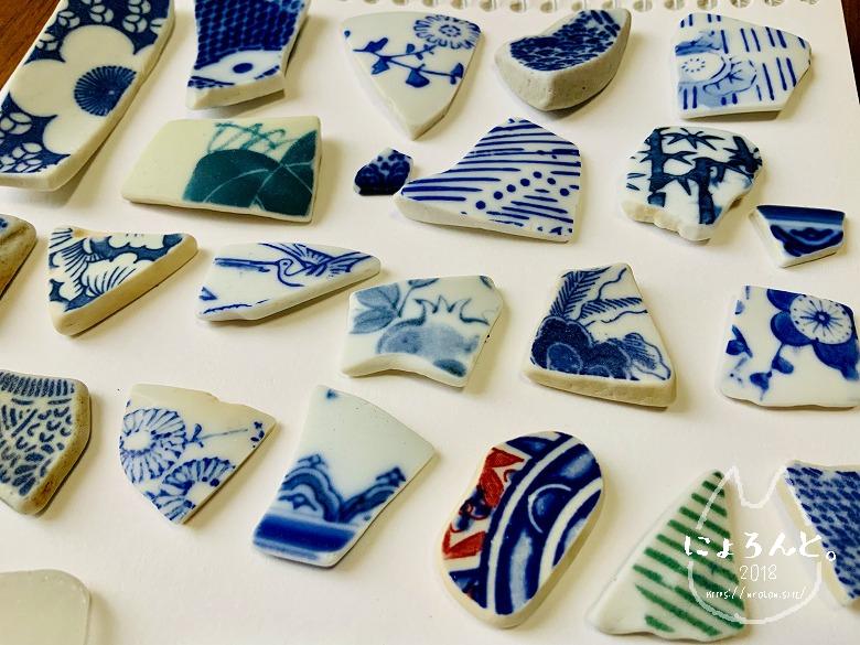 貝殻にシーグラスに陶片!上総湊・湊川河口でリバーコーミング/竹岡の陶片