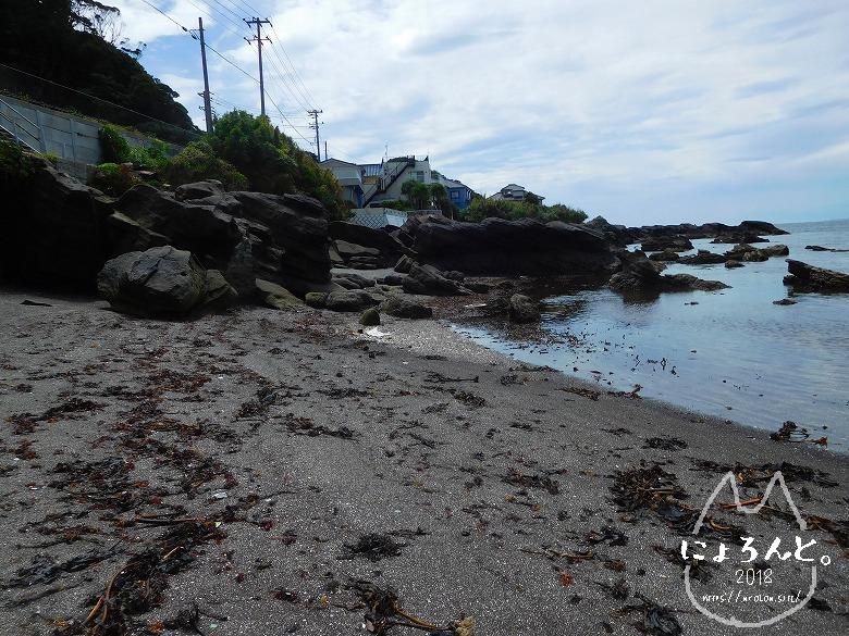 富津・竹岡(萩生/薬師堂近く)でビーチコーミング/浜の様子