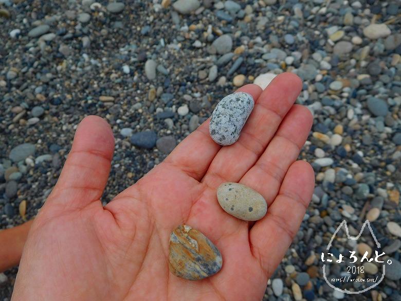 ヒスイ海岸(糸魚川海岸)でビーチコーミング/拾った石たち