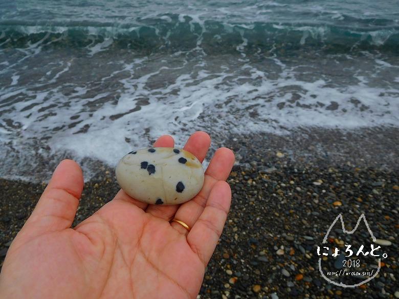ヒスイ海岸(糸魚川海岸)でビーチコーミング/水玉石