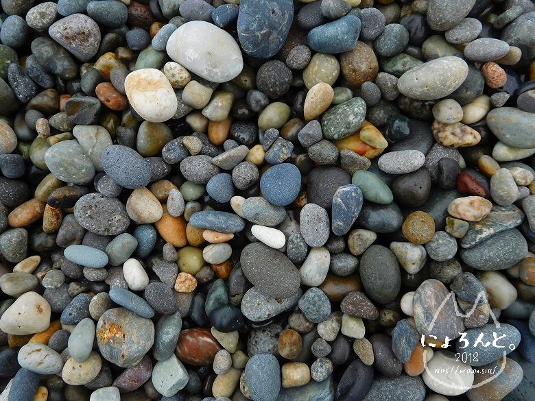 ヒスイ海岸(糸魚川海岸)でビーチコーミング/浜のアップ