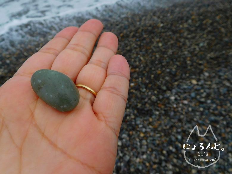ヒスイ海岸(糸魚川海岸)でビーチコーミング/電気石